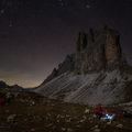 Wake up under the Tre Cime Hill