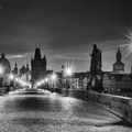 Charles bridge before sunrise