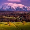 Západ slnka v Belianskych Tatrách