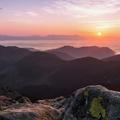 Východ slnka nad Tatrami