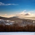 Zimný východ slnka