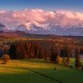 Západ slnka v poľských Tatrách