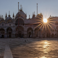 Sunrise over tha San Marco