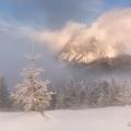 Winter sunrise at Rozsutec Hill