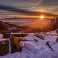 Zimné ráno z Holubyho chaty