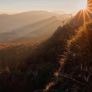 Západ slnka v Súľove
