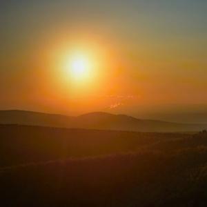 skoré ráno v Karpatoch