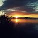 východ slnka pri rybníku