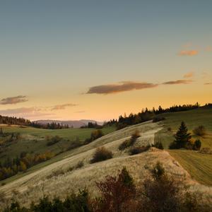 Jesenný západ slnka