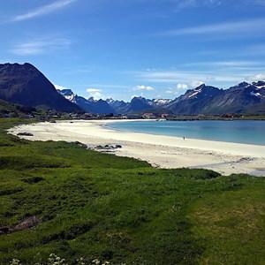biele arktické pláže...