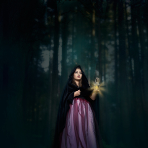 v tmavom lese....