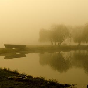 Jazero v hmle 2