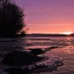 ... zimný východ na Dunaji ...