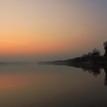 pokojný západ nad riekou Dunaj
