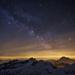 Mléčná dráha v Dolomitech