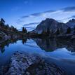 Lago di Limedes před svítáním
