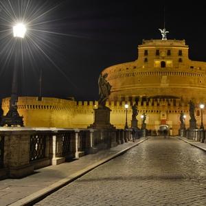 Anjelský hrad z mosta Elio