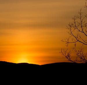 Západ slnka nad Kežmarkom