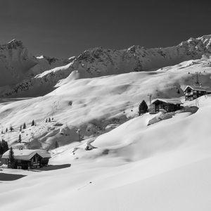 Alpská zimná romantika