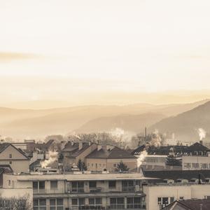zimné ráno v Banskej Bystrici