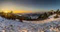 Zimná panoráma Čachtického hradu