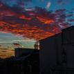 December sunset in Bratislava