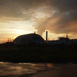 Západ slnka nad Černobyľom
