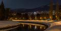 Rieka Nitra a Pyramída v pozadí