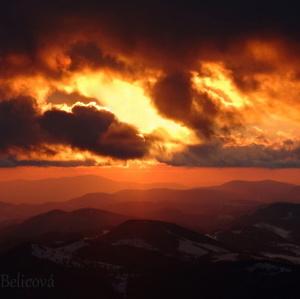 západ  slnka na Klaku