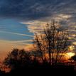 západ slnka nad sídliskom