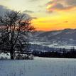 mrazivý západ slnka