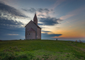 Západ pri kostolíku