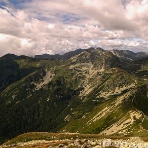 Západné Tatry z Hrubého Vrchu