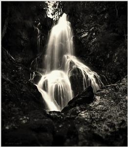 Roháčsky vodopád BW