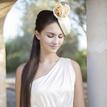 Krémový klobúčik s ružami