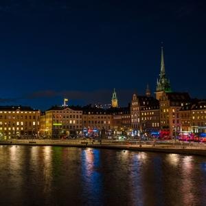 Štokholm v noci