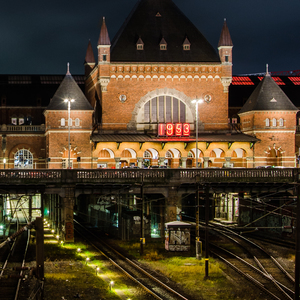 Central station in Copenhagen