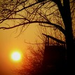 Západ slnka nad posedom