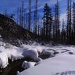 Zimný potok vo Vysokých tatrách