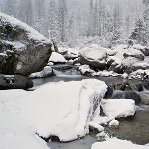 The mountain creek...