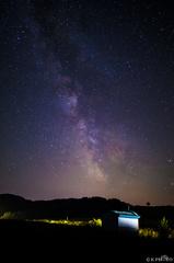 Mliečna dráha nad kaplnkou