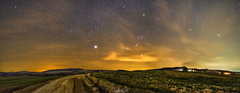 Panoráma nočnej oblohy
