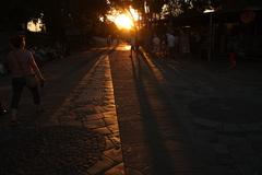 Západ slnka v Barcelone