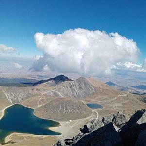 Na vrcholu, nad jezery.