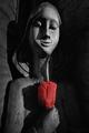 Dievča s ružou II