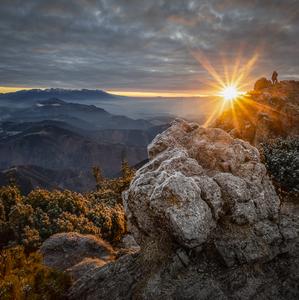 Prvé lúče slnka na Veľkom Choči