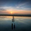 Sunrise at Malahide beach