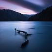 Blue hour at Glendalough Lake
