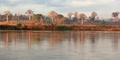 Svítání na řece Tsiribina
