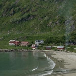 Večerný kľud v Grøtfjorde